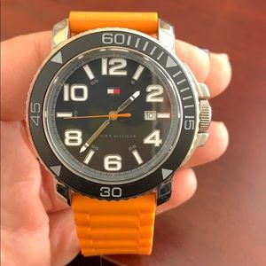 Men's TH rubber band watch